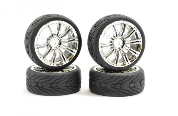 1:10 STREET/TREAD TYRE 20SP GUN METAL WHEEL