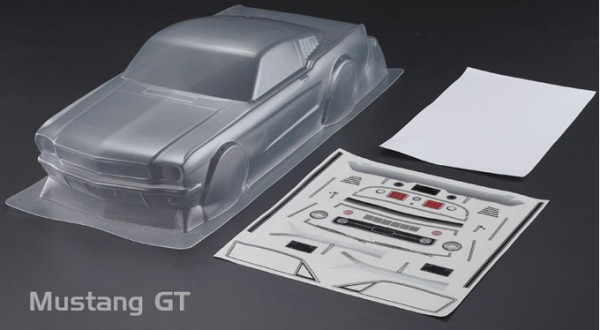 1:10 Body Ford Mustang GT Bodyshell ( clear+ Decals+ accessoirs)