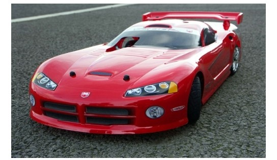1:10 Body DODGE VIPER GTS-R KAROSSERIE (ROT LACKIERT/200mm)