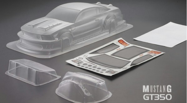 1:10 Body Custom Mustang GT 350 Bodyshell ( clear+ Decals+ accessoirs)