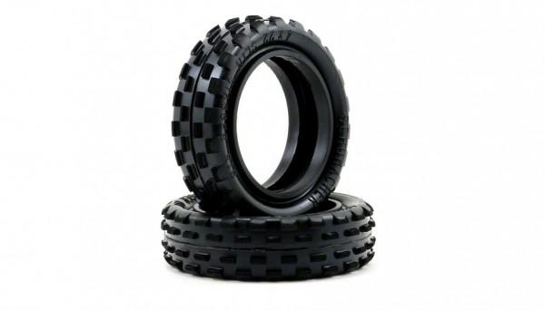 U6592 - Stagger Rib Tires - Yellow - Slim (Pair)