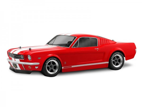 1:10 Body Ford Mustang GT 1966 200MM clear + Decals