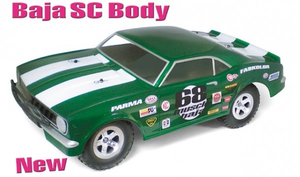 1:8 Body 68er SC Muscle Car Baja (clear+decals)
