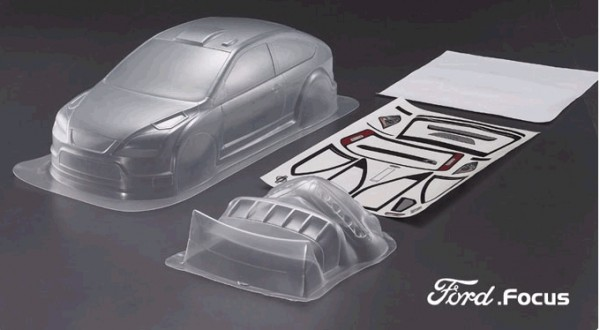 1:10 Body Ford Focus (clear+decals+accesoirs)