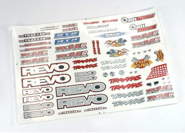 Decal set, Revo (Revo logos and graphics decal sheet), TRX5313