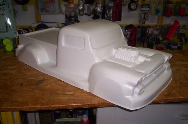 1:5 Body V8 Pick up Truck für Fg Carson Smartech Reely (withe)