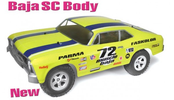 1:8 Body 72er SC Muscle Car Baja (clear+decals)