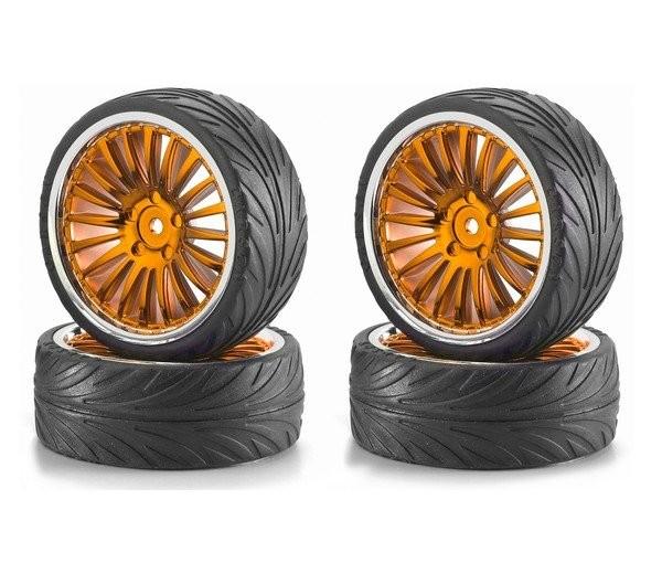 1:10 Big Wheels Tyres Set ( gold )