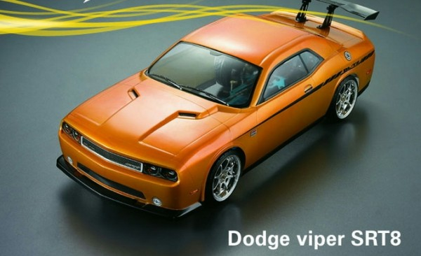 1:10 Body DODGE SRT8 ( clear+ Decals)