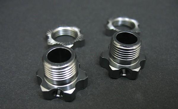 Wheel 17mm Hex.+Nuts (2x)