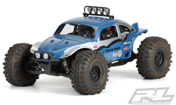 1:10 - 1:8 Body VW Baja Beetle Buggy for Axial Yeti (clear +decals)