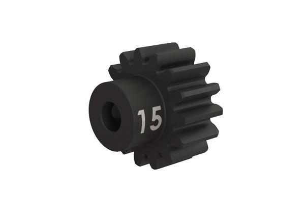 Gear, 15-T pinion (32-p), heavy duty (machined, hardened ste, #TRX3945X
