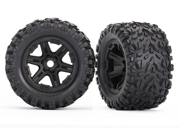 Tires & wheels, assembled, glued (black wheels, Talon EXT tires, foam inserts) (