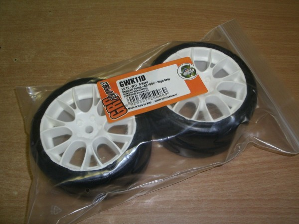 1:5 GRP Reifen DTM Gwk11D Tyres hard- glued on wheels white