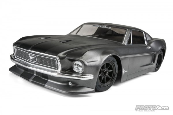 1:10 Body 1968 Ford Mustang ( clear+ Decals+ accessoirs)