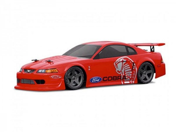 1:18 Body Ford Mustang Cobra Clear+ Decals wb 140mm
