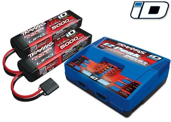 Traxxas 6S COMBO (2X 2872X 11.1V LiPo & 1X 2972G Duo Charger
