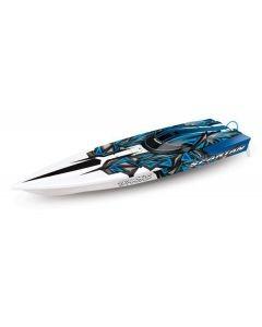 Traxxas Spartan TQi TSM, Blue, TRX57076-4B