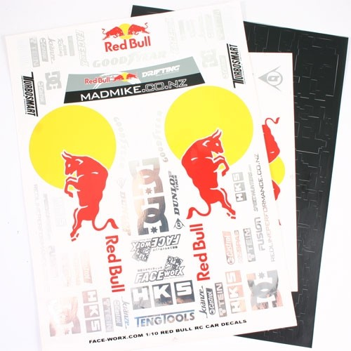 1:10 Redbull FORMULA DRIFT DECALS SET