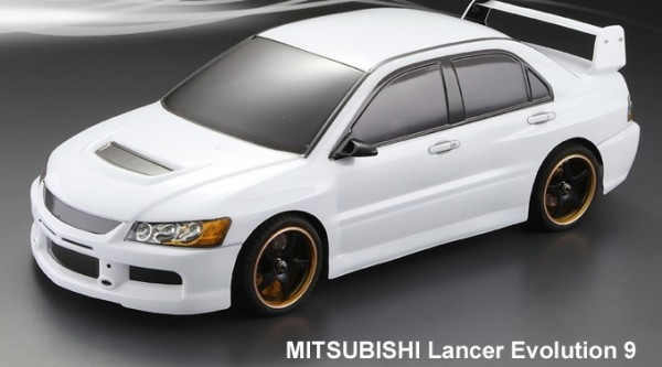 1:10 Body Mitsubishi Evo 9 (clear +Decals )