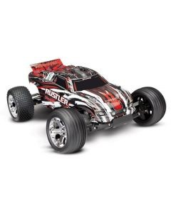 Traxxas Rustler XL-5 TQ (no battery/charger), Red, TRX37054-4R