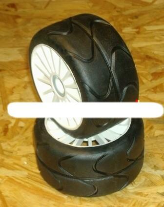 1:5 GRP Reifen 6 Kant ON-Road Reifen für Carson CY Porsche Elektro Chassis (2)