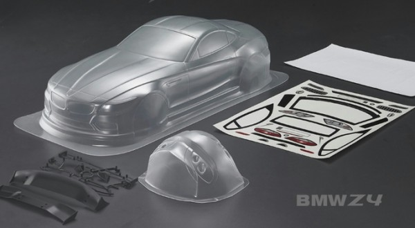 1:10 Body BMW Z4 Clear Bodyshell ( clear+ Decals)