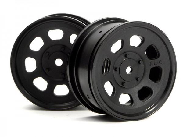 1:10 Stock Car Wheel 26mm Black (1mm Offset ) (2)