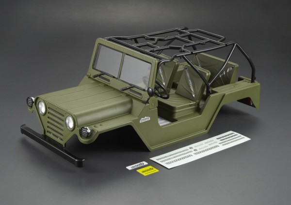 1:10 Body Crawler Warrior Willys Ford Mutt M151 (painted military )