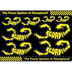 Scorpion Decal Stickers (A4 Size)
