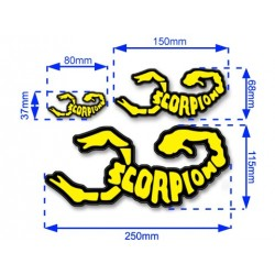 Scorpion Decal Stickers (Die-Cut: 3 Sizes)