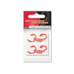 Scorpion Decal Sticker 004 (Orange)