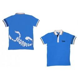 Scorpion Polo Shirt (Blue-XXL)