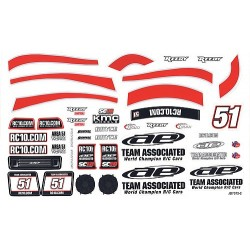 ASSOCIATED SC18 AE DECALS