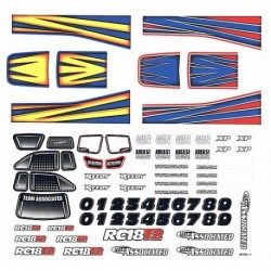 ASSOCIATED RC18T2 DECALS