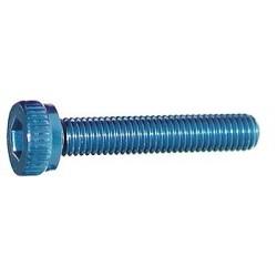 M3x18mm Zylinderkopfschraube blau (4)
