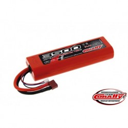 Team Corally - Sport Racing 45C 3500 mAh 7,4V Competition Li-Po Battery Pack, Stick Hardcase 12Awg Wire T-Plug Connector