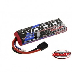 Team Corally - Performance 35C 4000 mAh 7,4V Li-Po Battery Pack, Semi-Hard Case 12Awg Wire Trx Connector