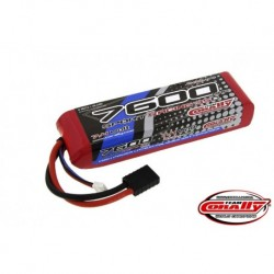 Team Corally - Performance 35C 7600 mAh 7,4V Li-Po Battery Pack, Semi-Hard Case 12Awg Wire Trx Connector