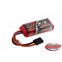 Team Corally - Performance 35C 1400 mAh 11,1V Li-Po Battery Pack, Semi-Hard Case 12Awg Wire Trx Connector