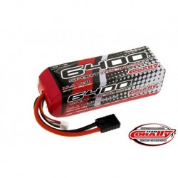 Team Corally - Performance 35C 6400 mAh 11,1V Li-Po Battery Pack, Semi-Hard Case 12Awg Wire Trx Connector