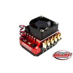 "Team Corally - Cerix Pro R10 ""Racing Factory"" 2-3S Esc For Sensored And Sensorless Motors, Turbo Timing Mode, Bec, 130A"