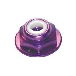 8-32 Mutter mit Flansch Purple (4)