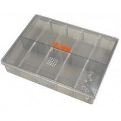 TM einstellbare Kleinteilebox (smoke getönt 13x10x2,8cm)