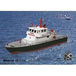 Aquacraft - Rescue 17 Fireboat w/Water Cannon 2.4GHz RTR