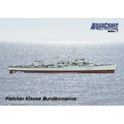 Aquacraft - 1/72 German Navy Fletcher Class Destroyer ARR