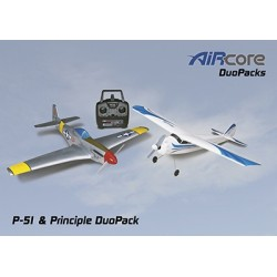 AirCore - P-51 Mustang + Priciple Trainer RTF Set