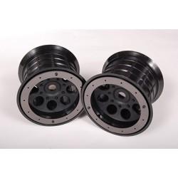 Axial - Oversize Beadlock 8-Hole Wheel 17mm Hex Blk (2)