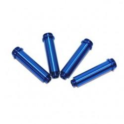 Gefräste Dämpfergehäuse Alu für Axial AX10 (4 Stk.) Blau