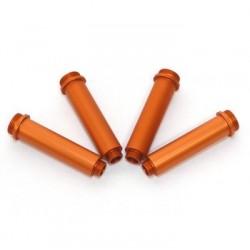 Gefräste Dämpfergehäuse Alu für AX10 Dämpfer (4 Stk.) Orange